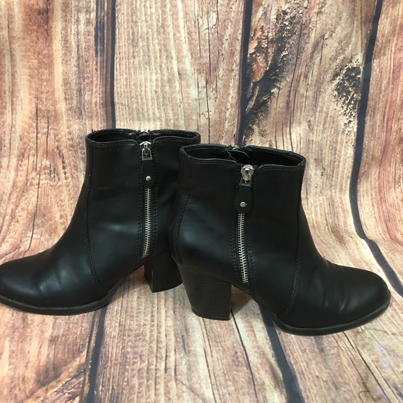 Simply Vera Vera Wang Shoes - Simply Vera Ankle Leather Boot Heels 7.5